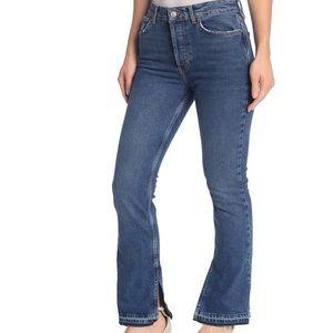 free people emmy split hem bootcut jeans